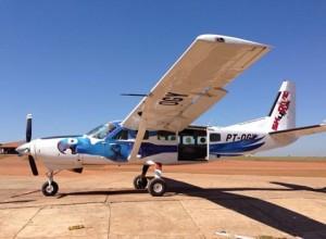 Arara Azul Skydive4fun CNP Boituva SP Brasil photo Luchiari Eventos Esportivos