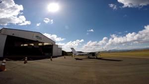Hangar + Aeronave Azul do Vento site Luc