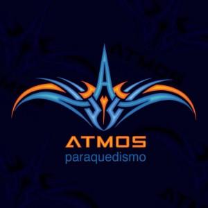 logotipo atmos paraquedismo www luchiari com br