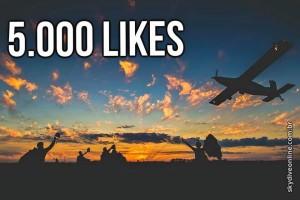 5 mil likes skydive online fan page facebook pagina luchiari paraquedismo 5k obrigado