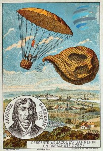 Jacques Garnerin en parachute 1797 skydive online luchiari paraquedismo